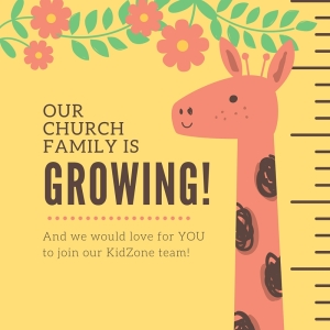 KidZone Volunteers blog title