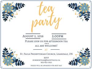 Announcement- Tea Party