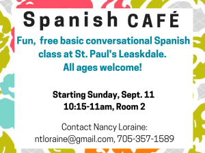 Announcement- Spanish Cafe